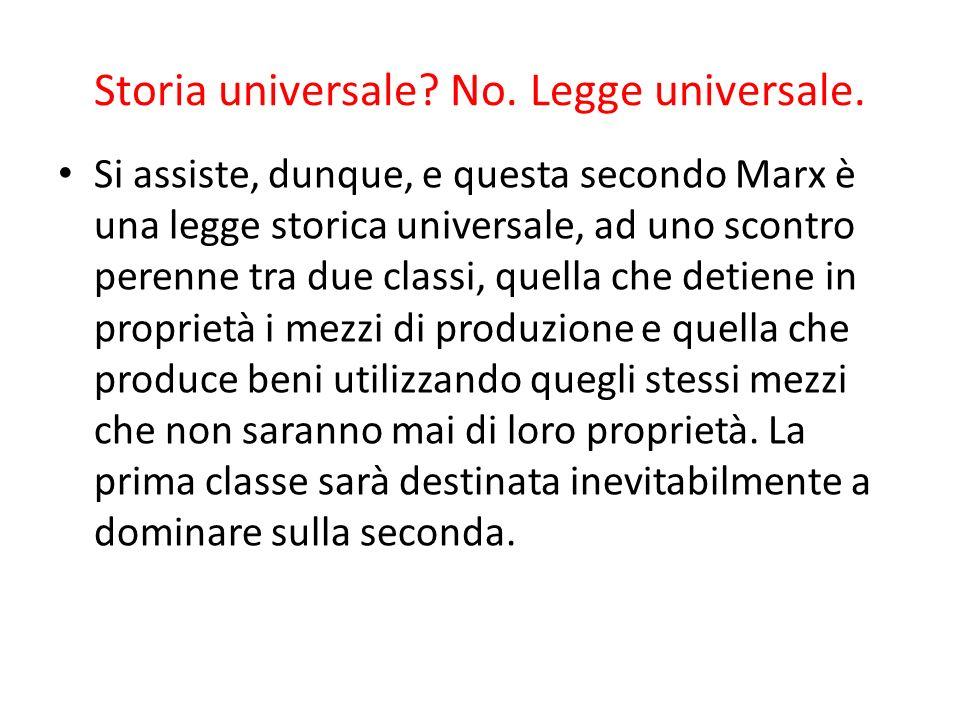 Storia universale No. Legge universale.