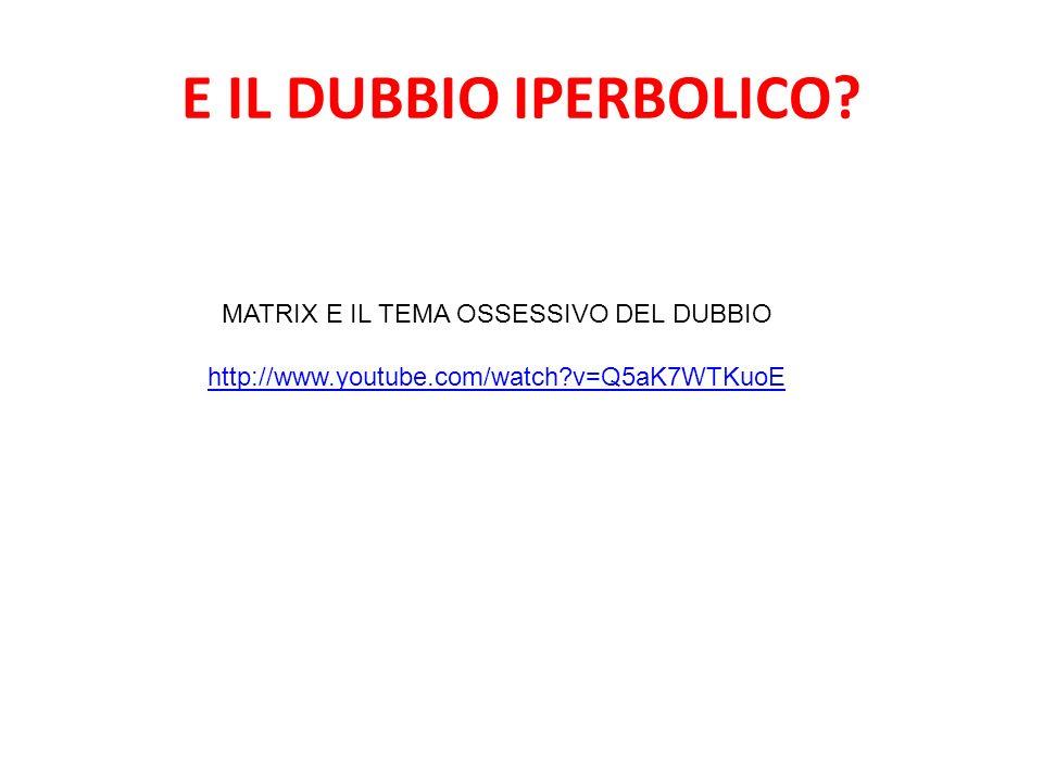 MATRIX E IL TEMA OSSESSIVO DEL DUBBIO