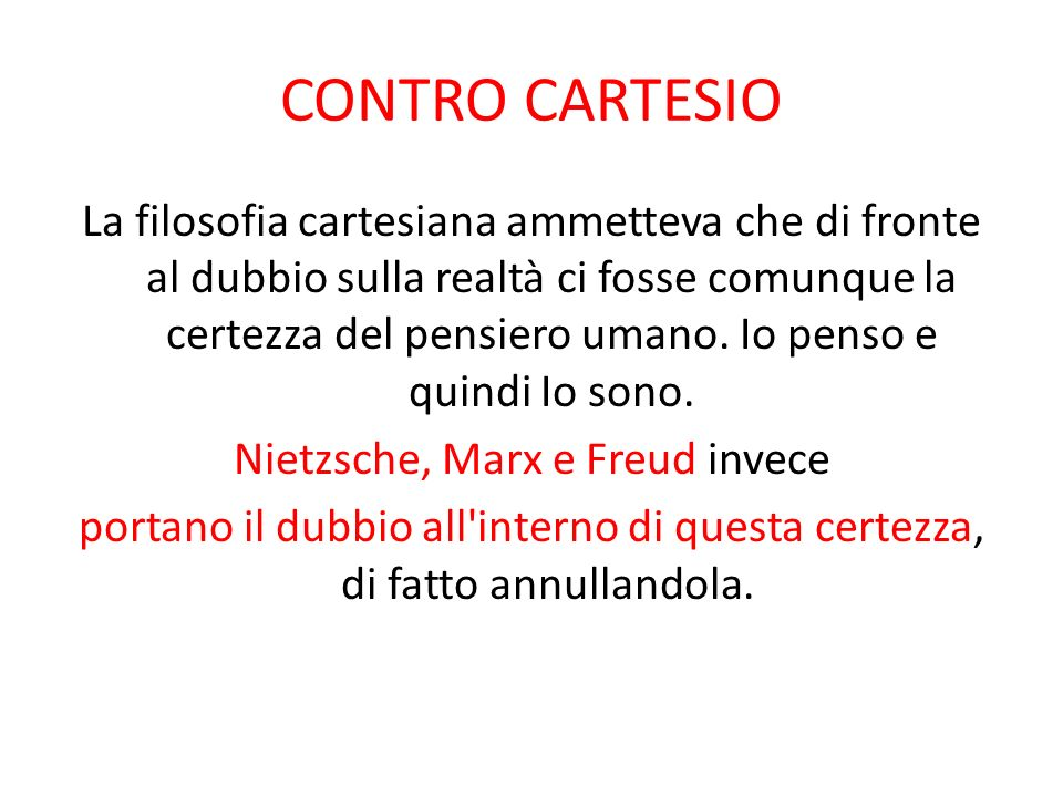 CONTRO CARTESIO