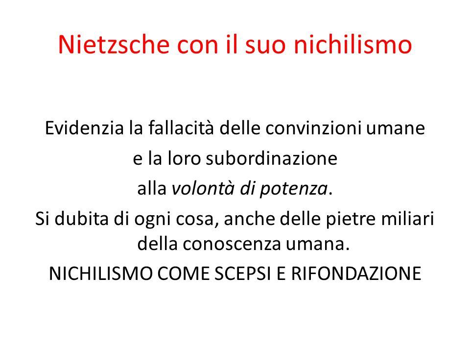 Nietzsche con il suo nichilismo