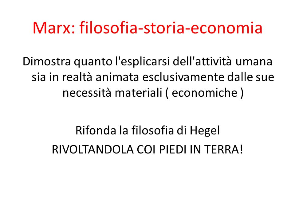 Marx: filosofia-storia-economia