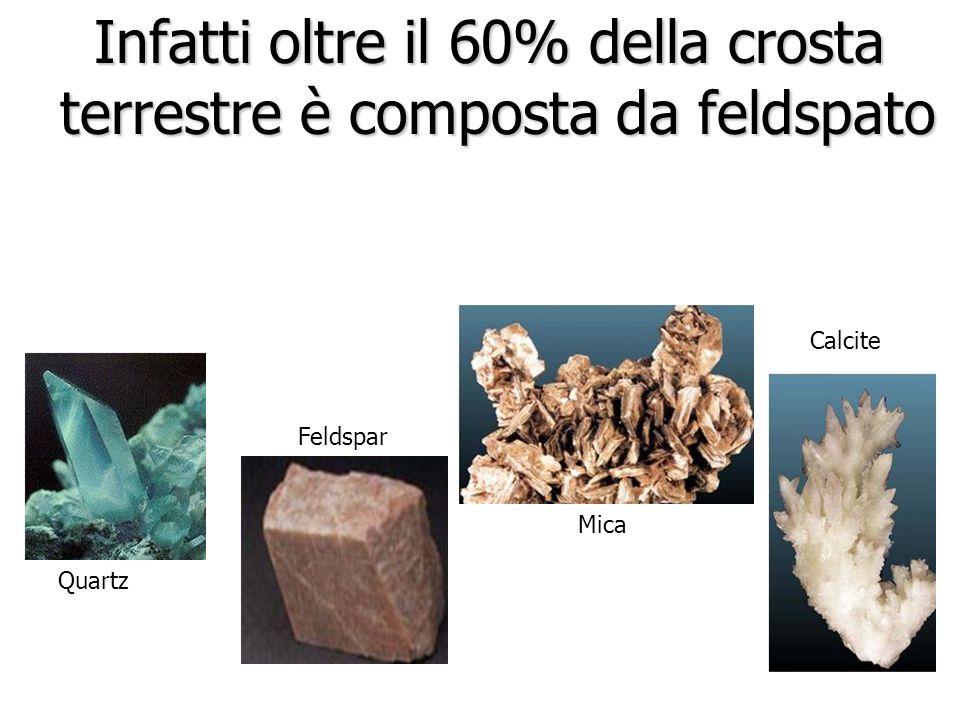 Infatti oltre il 60% della crosta terrestre è composta da feldspato