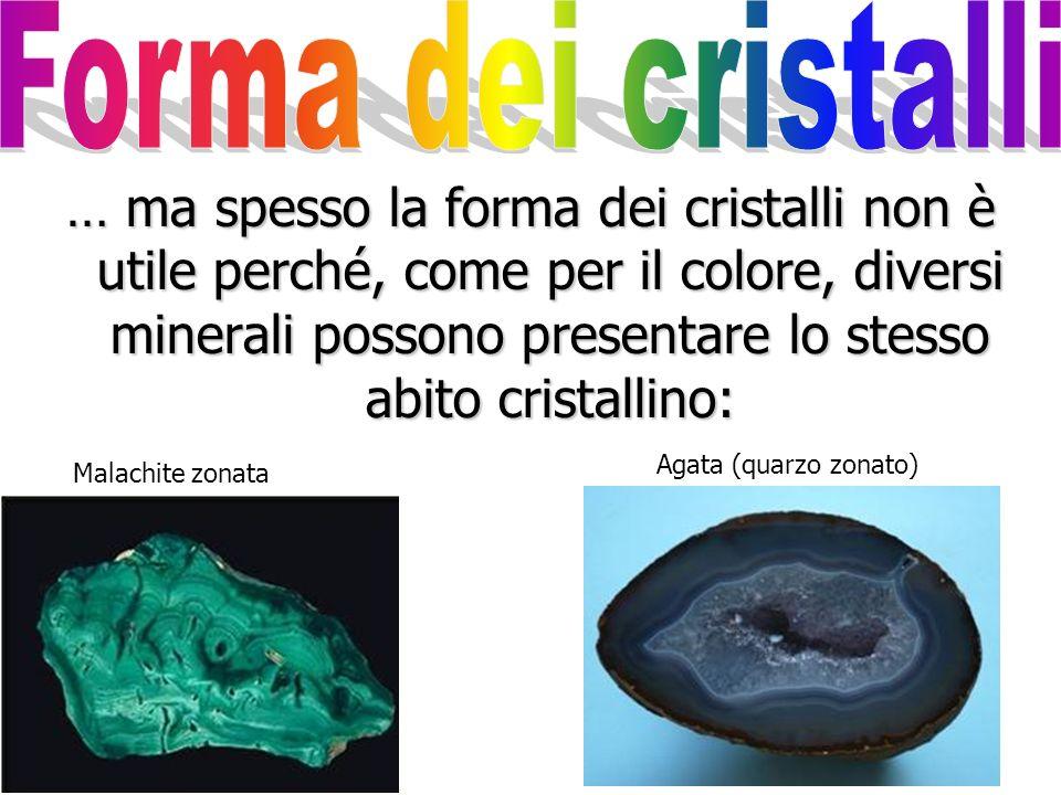 Forma dei cristalli