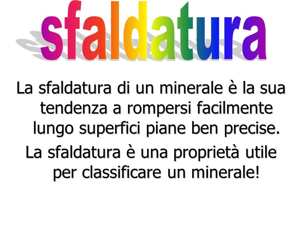 La sfaldatura è una proprietà utile per classificare un minerale!