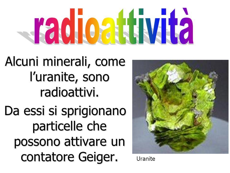 Alcuni minerali, come l'uranite, sono radioattivi.