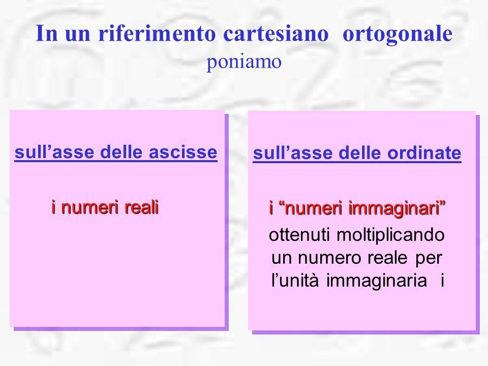 In un riferimento cartesiano ortogonale poniamo