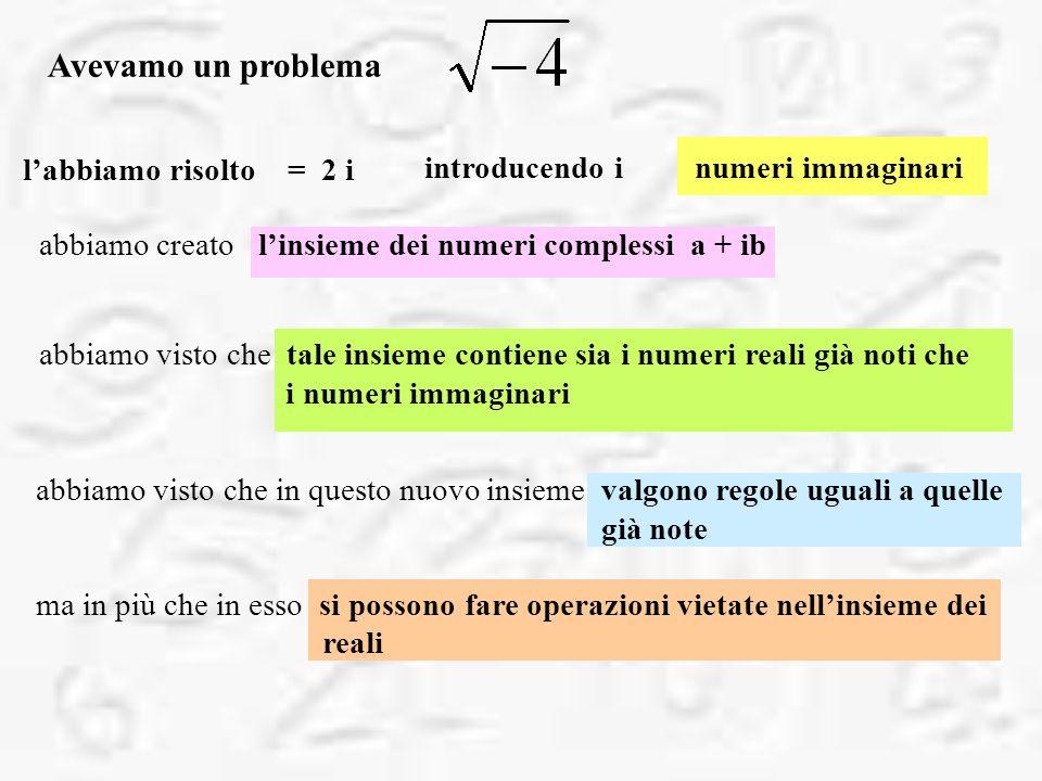 Avevamo un problema l'abbiamo risolto = 2 i