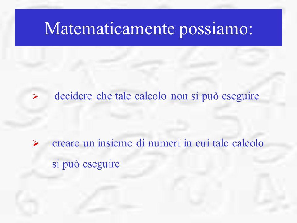 Matematicamente possiamo: