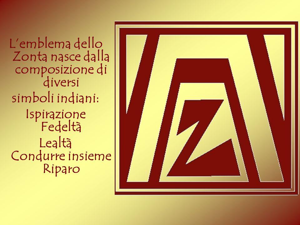 L'emblema dello Zonta nasce dalla composizione di diversi