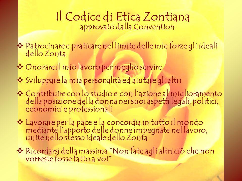 Il Codice di Etica Zontiana approvato dalla Convention