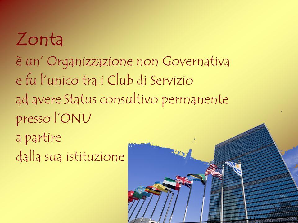 Zonta è un' Organizzazione non Governativa