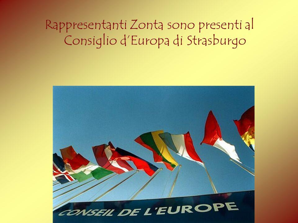 Rappresentanti Zonta sono presenti al Consiglio d'Europa di Strasburgo