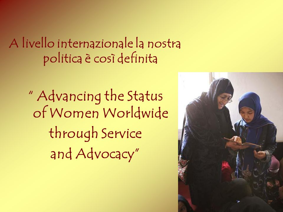 Advancing the Status of Women Worldwide through Service