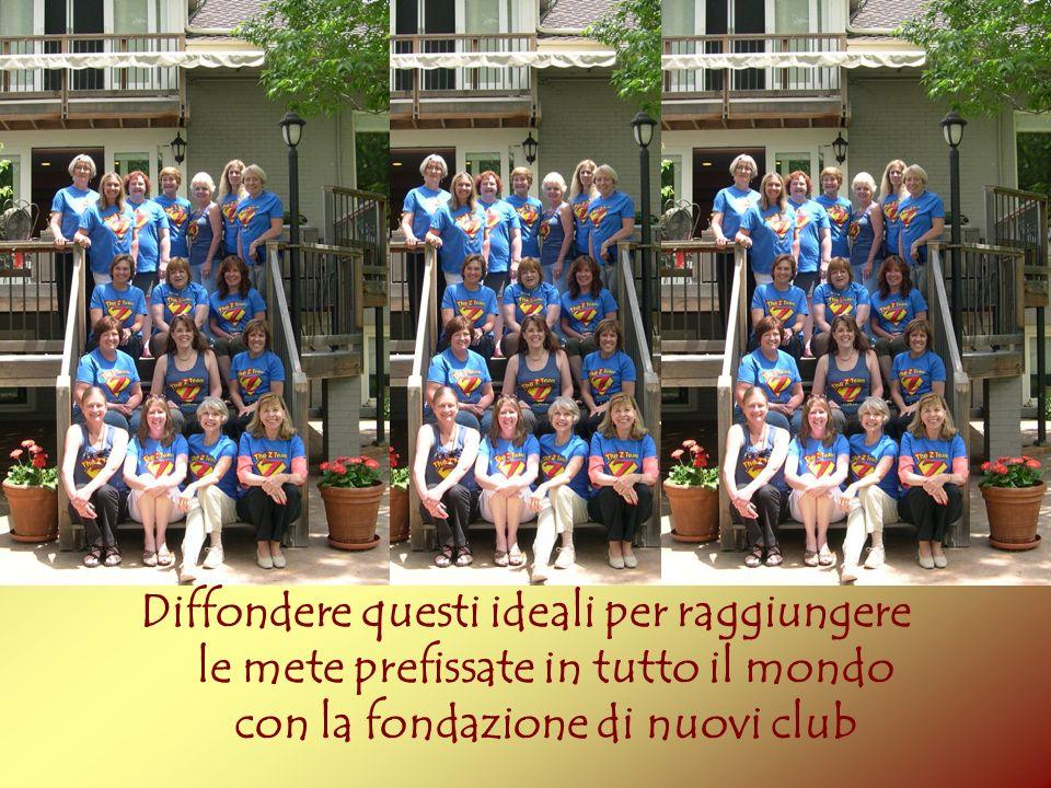 Diffondere questi ideali per raggiungere le mete prefissate in tutto il mondo con la fondazione di nuovi club