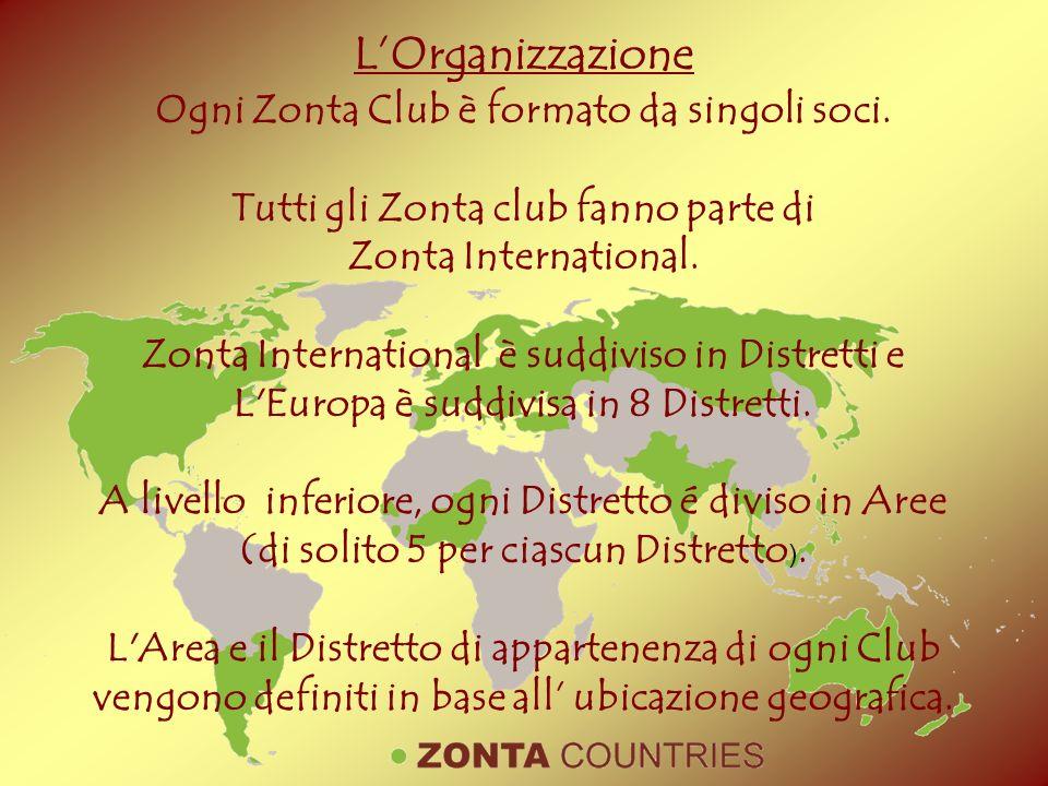 L'Organizzazione Ogni Zonta Club è formato da singoli soci.