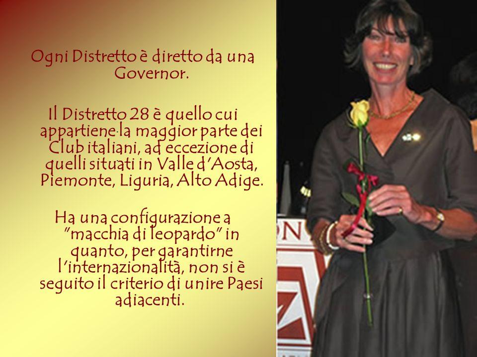 Ogni Distretto è diretto da una Governor.