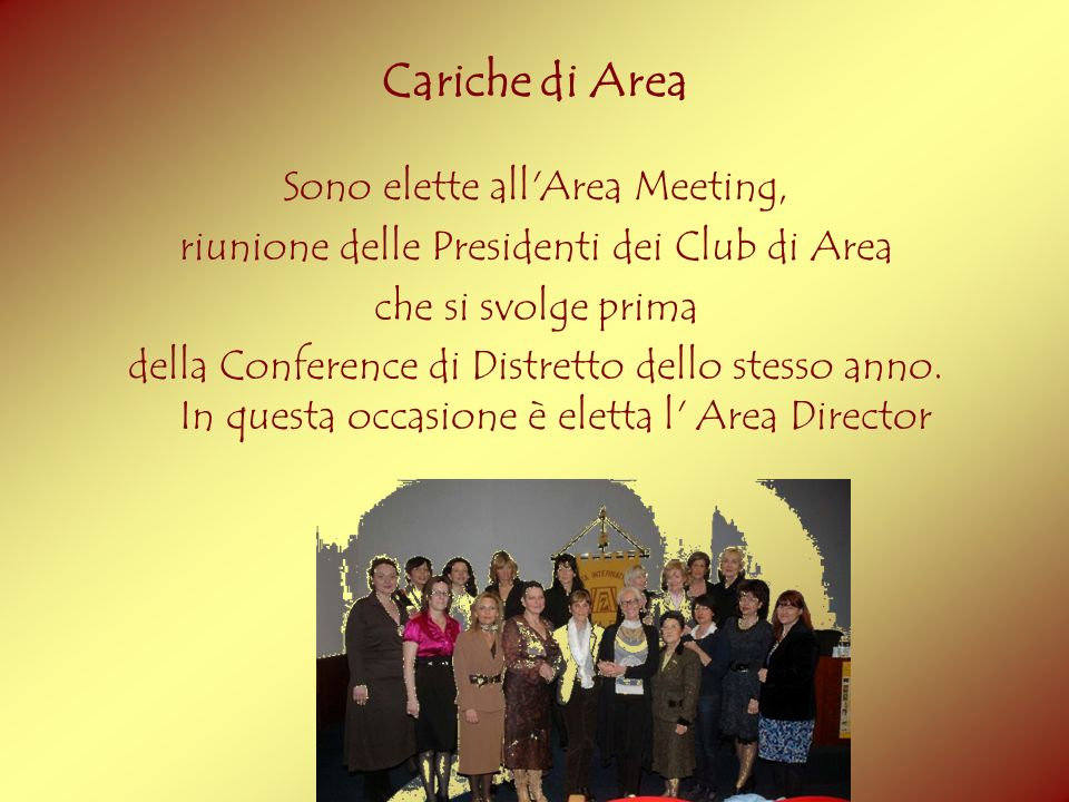 Cariche di Area Sono elette all Area Meeting,