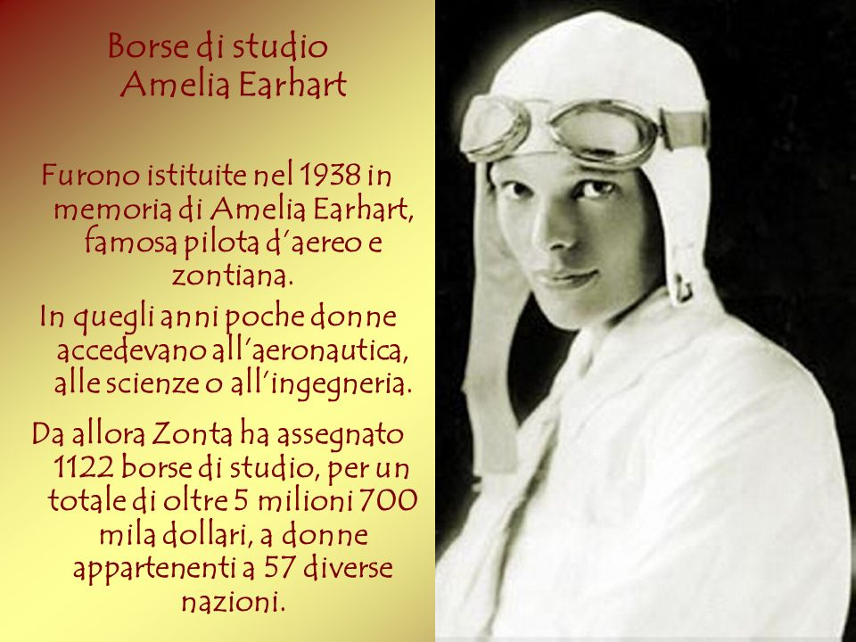 Borse di studio Amelia Earhart