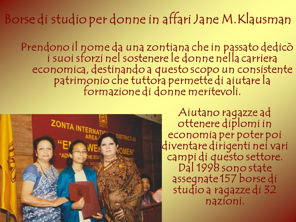 Borse di studio per donne in affari Jane M.Klausman