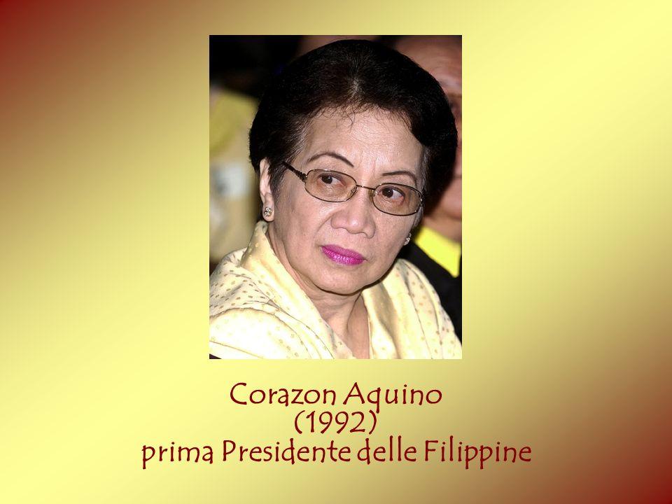 prima Presidente delle Filippine