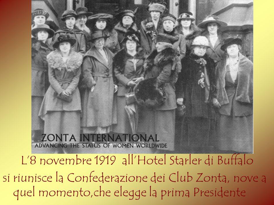 L'8 novembre 1919 all'Hotel Starler di Buffalo