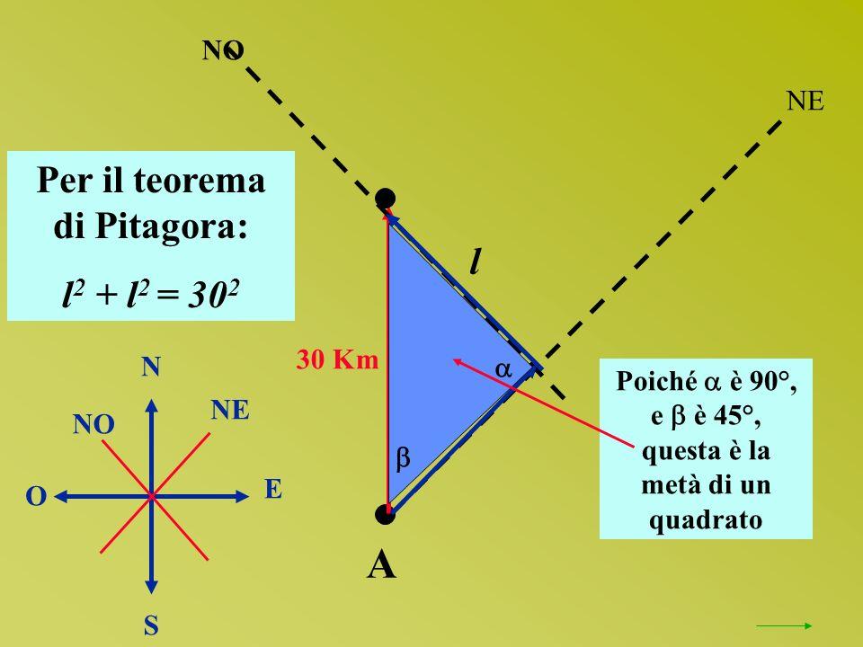 Per il teorema di Pitagora: questa è la metà di un quadrato
