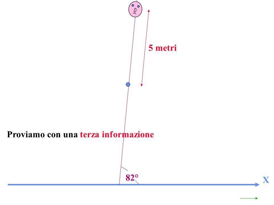 5 metri Proviamo con una terza informazione 82° X