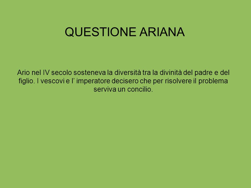 QUESTIONE ARIANA
