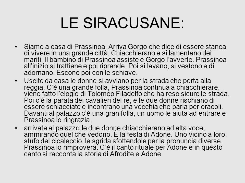LE SIRACUSANE: