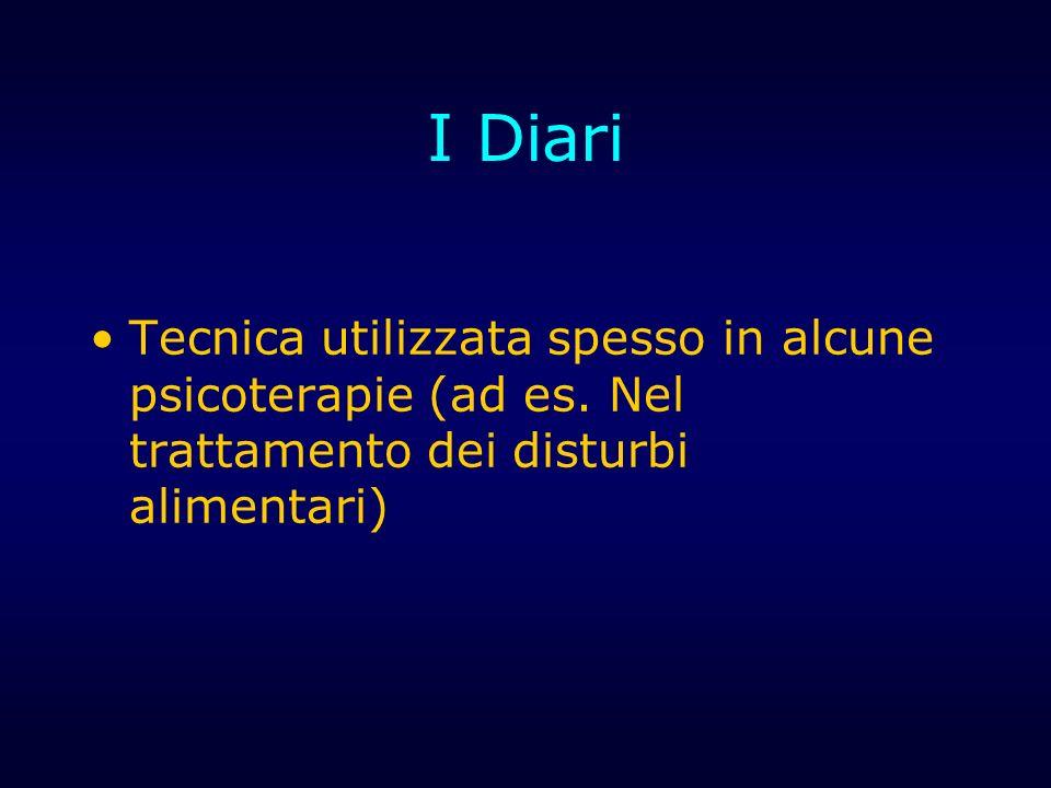 I Diari Tecnica utilizzata spesso in alcune psicoterapie (ad es.