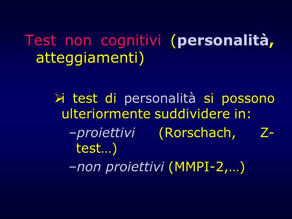 Test non cognitivi (personalità, atteggiamenti)