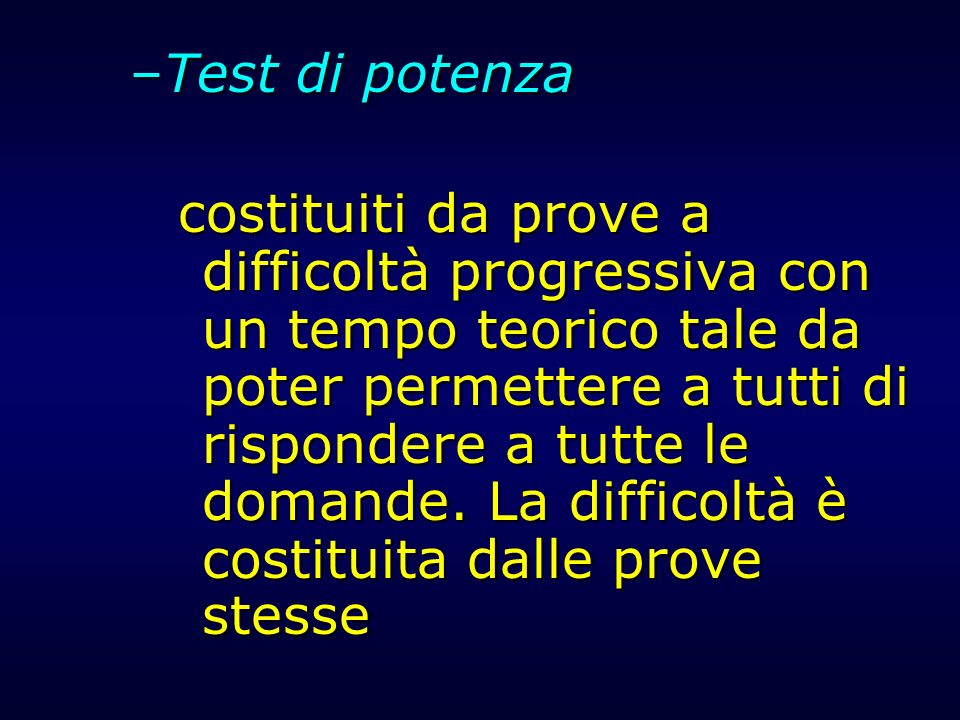 Test di potenza
