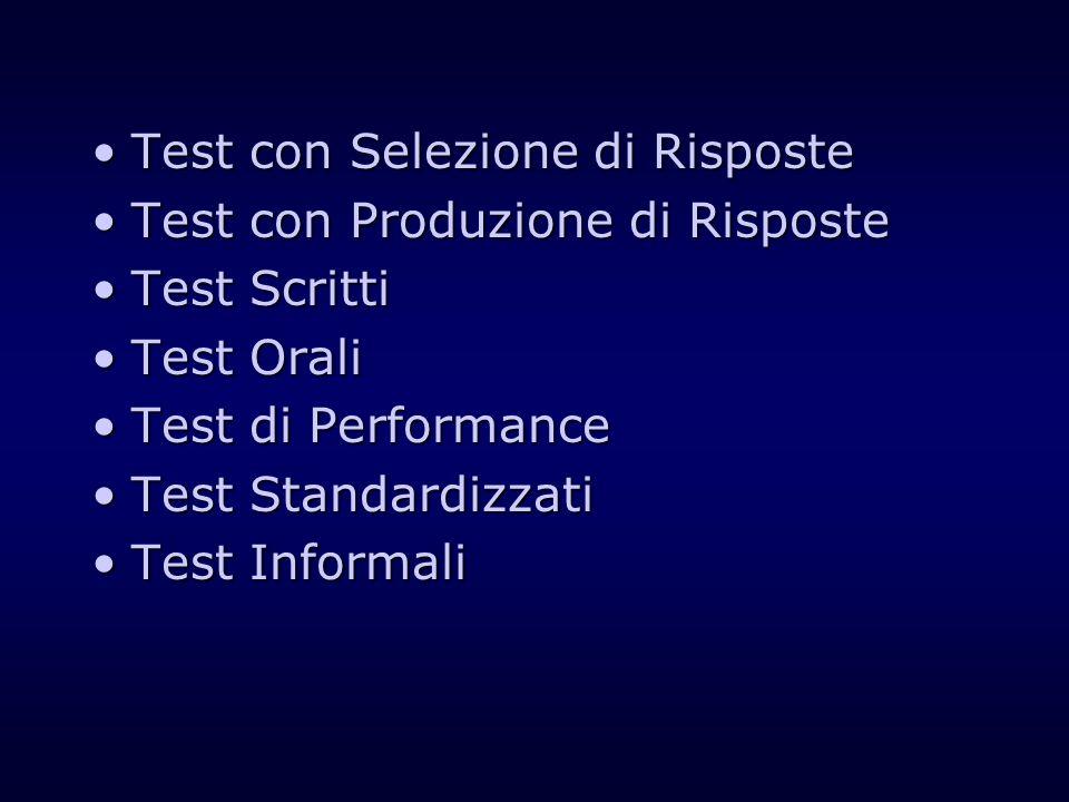 Test con Selezione di Risposte