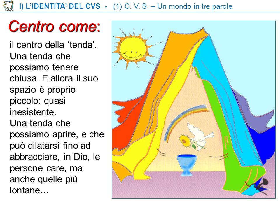 I) L'IDENTITA' DEL CVS - (1) C. V. S. – Un mondo in tre parole