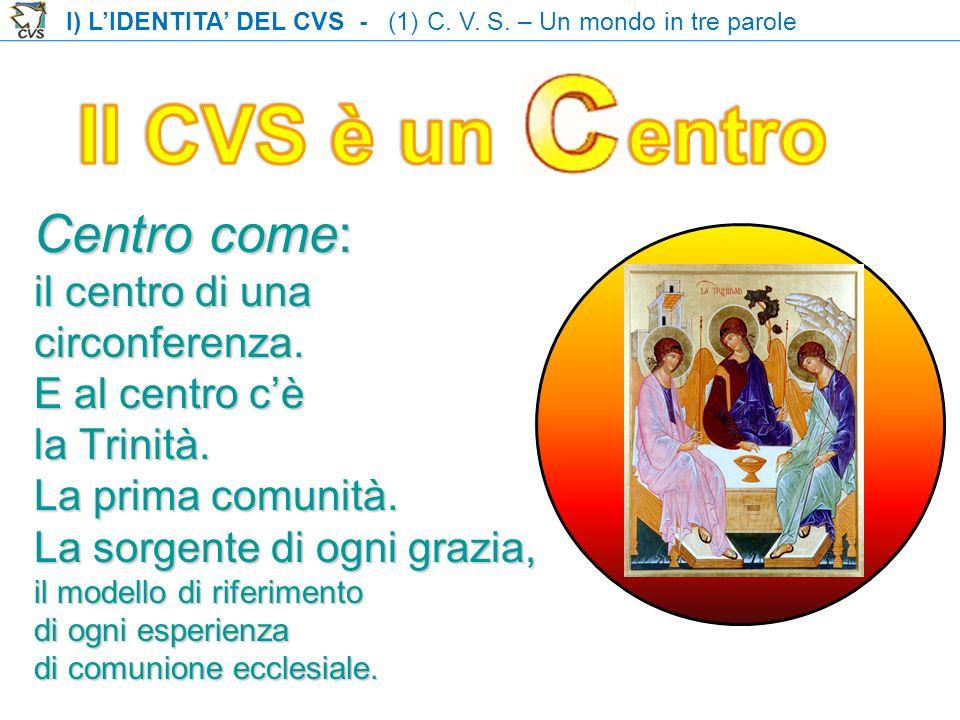 Il CVS è un entro Centro come: il centro di una circonferenza.