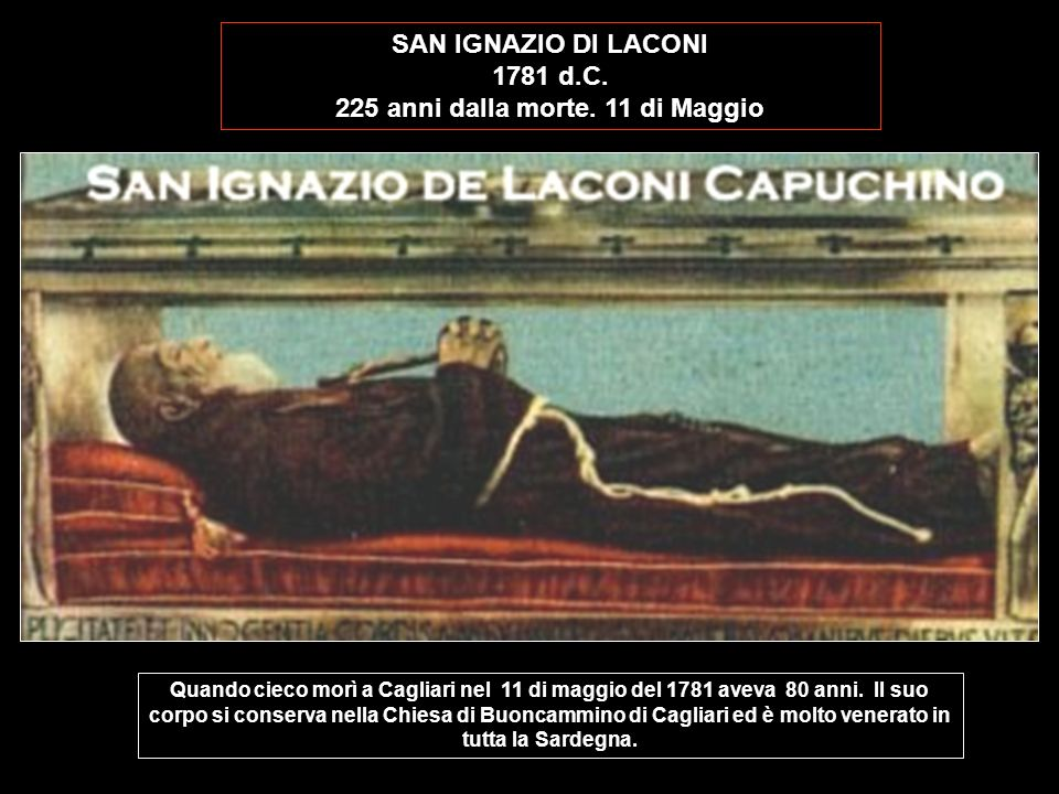 225 anni dalla morte. 11 di Maggio