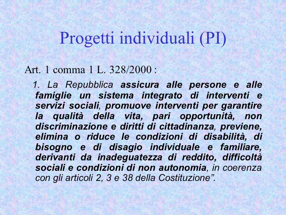 Progetti individuali (PI)