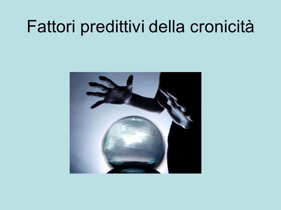 Fattori predittivi della cronicità