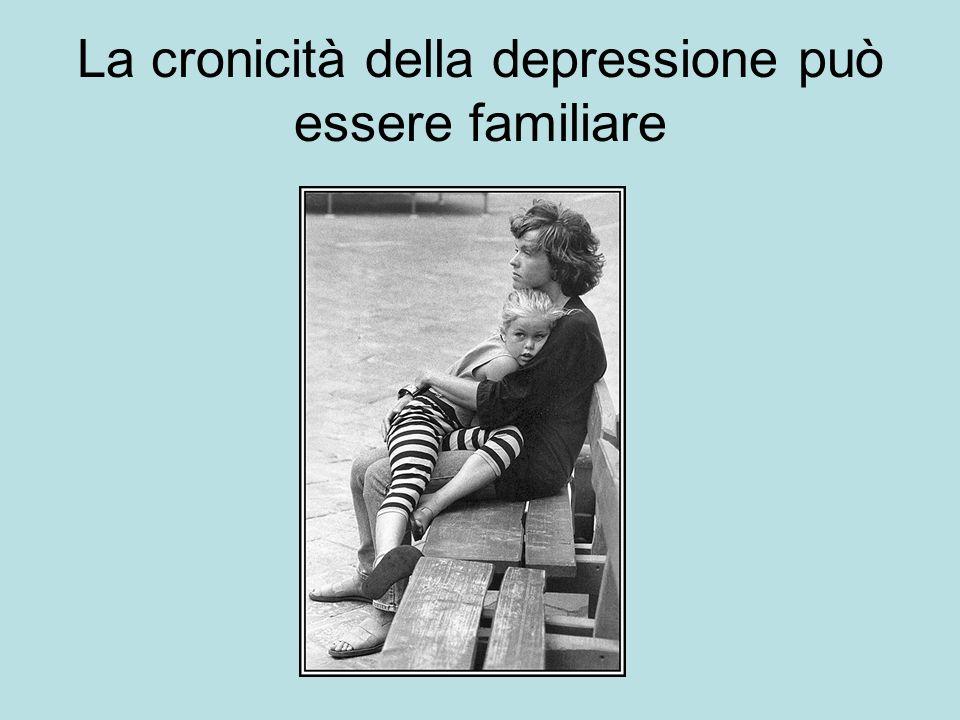 La cronicità della depressione può essere familiare