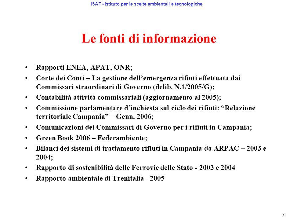 Le fonti di informazione