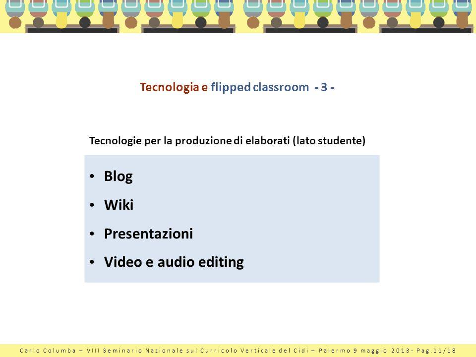 Tecnologia e flipped classroom - 3 -