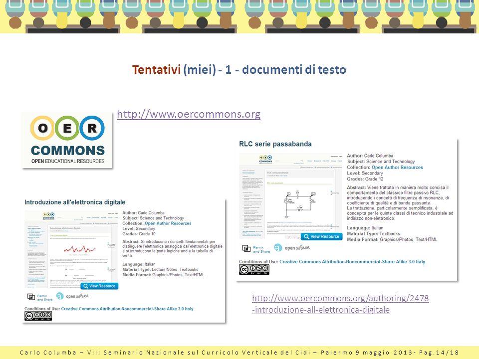 Tentativi (miei) - 1 - documenti di testo