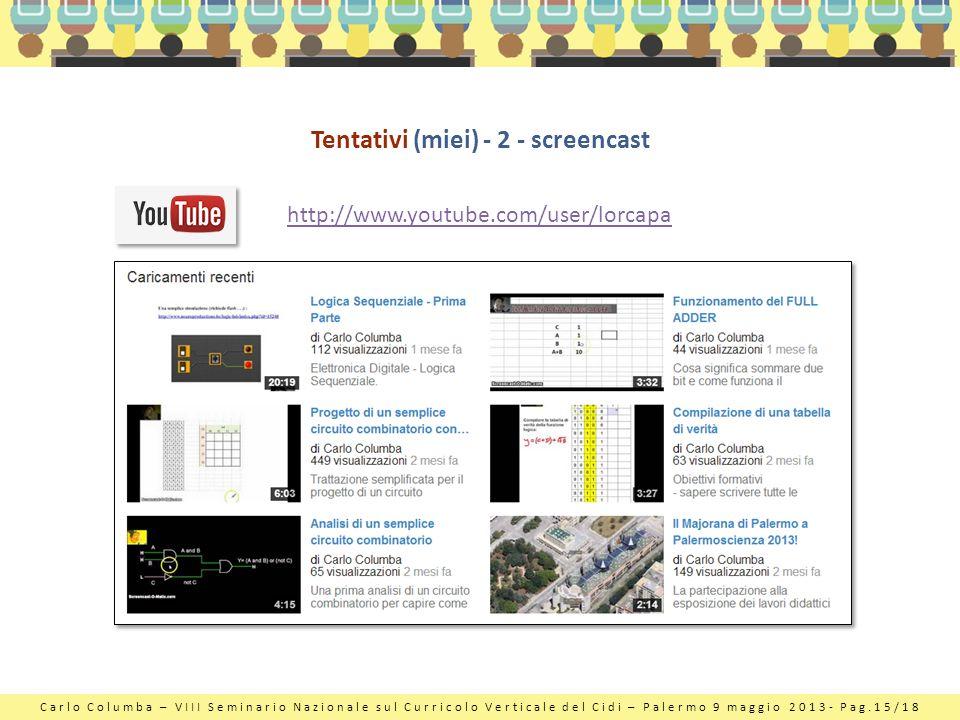 Tentativi (miei) - 2 - screencast