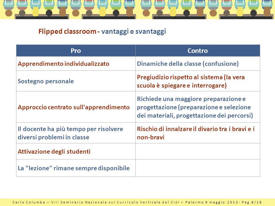 Flipped classroom - vantaggi e svantaggi