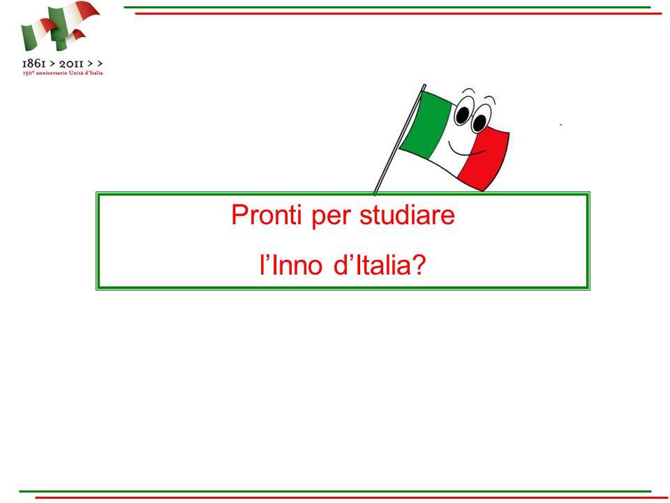Pronti per studiare l'Inno d'Italia