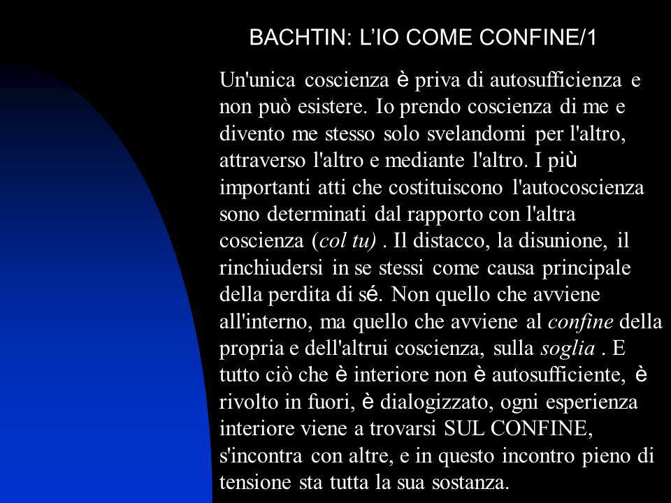 BACHTIN: L'IO COME CONFINE/1