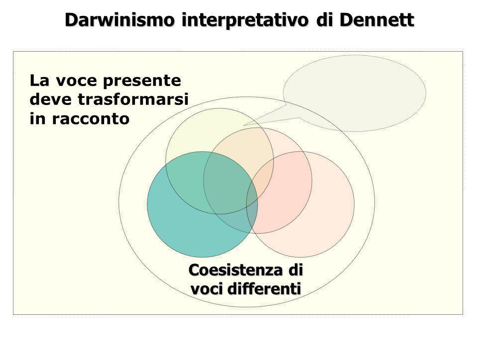 Darwinismo interpretativo di Dennett Coesistenza di voci differenti