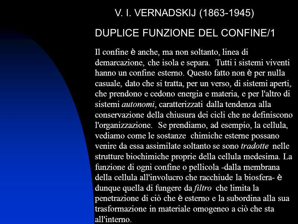 DUPLICE FUNZIONE DEL CONFINE/1