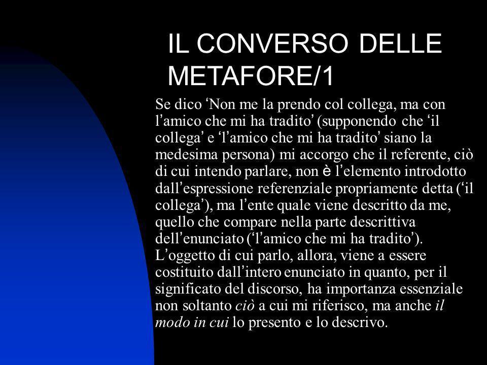 IL CONVERSO DELLE METAFORE/1