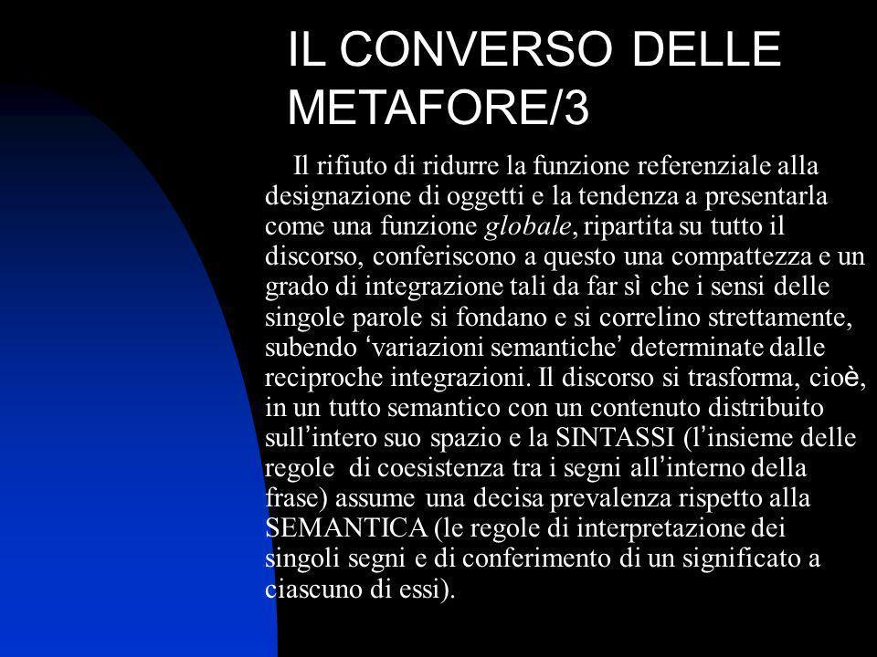IL CONVERSO DELLE METAFORE/3